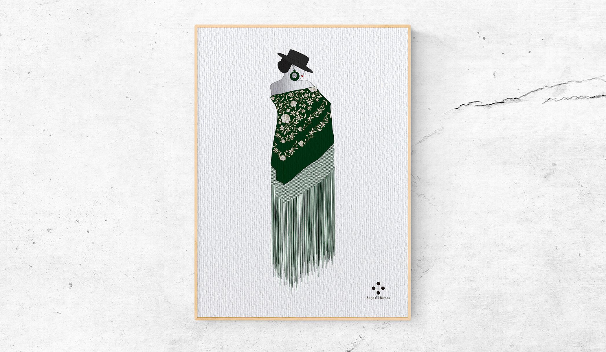 Mujer con mantón de manila