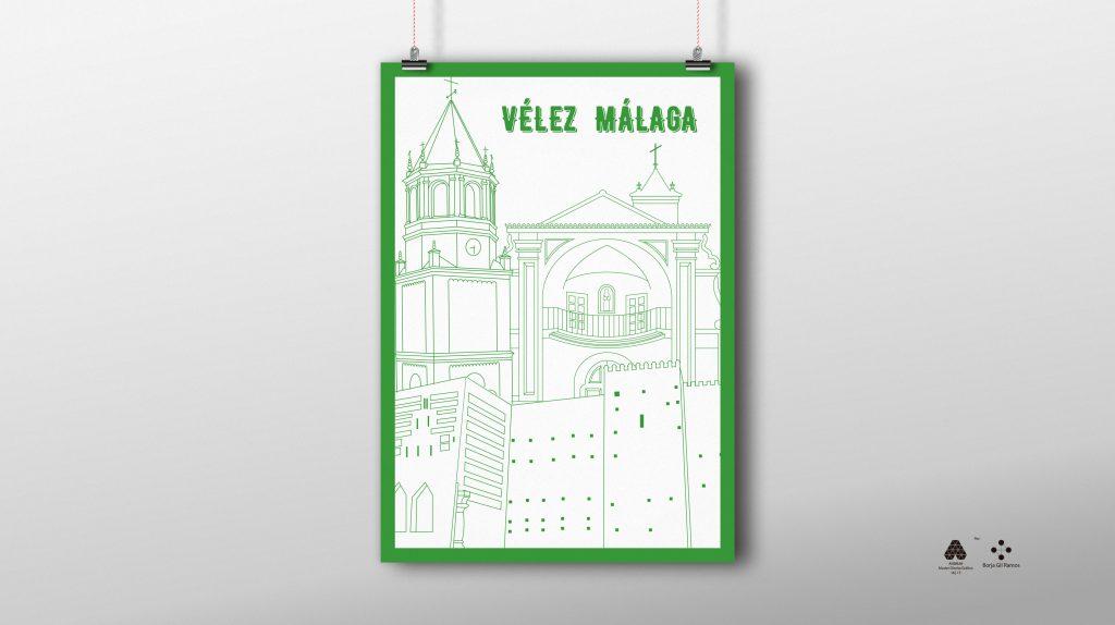 Ilustración poster de Vélez Málaga