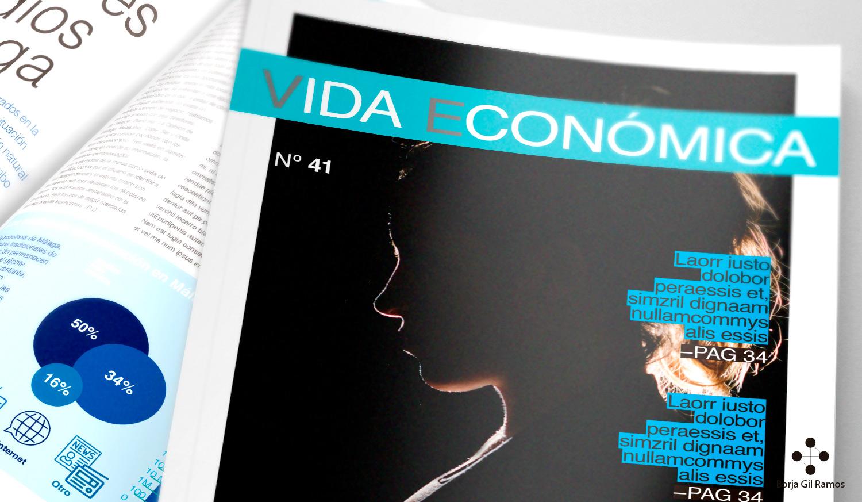 Rediseño de maquetación de la revista Vida Económica